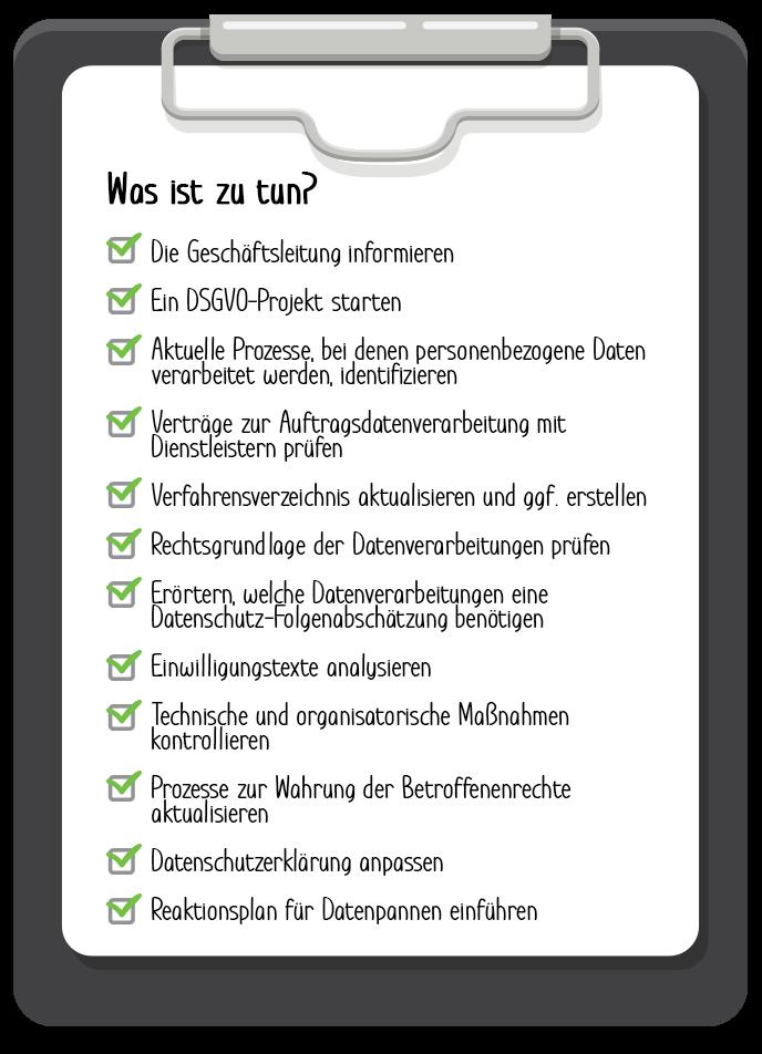 Checkliste-DSGVO